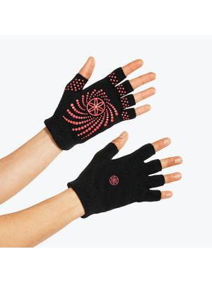 Gaiam Grippy Yoga Gloves Pink Dots Version