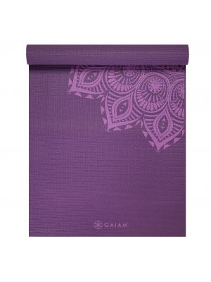 Gaiam Purple Mandala Premium  Yoga Mat