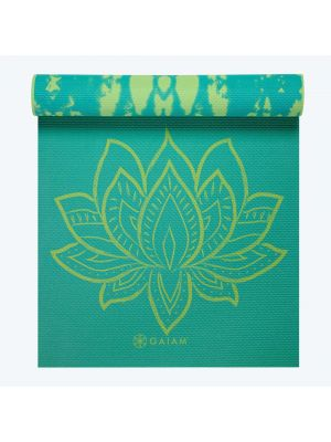 Gaiam Turquoise Lotus Reversible jogos kilimėlis