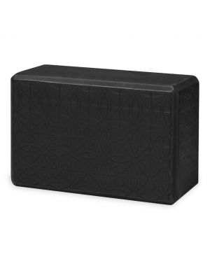 Gaiam Embossed Black Yoga Block