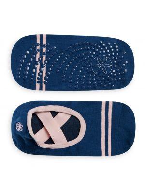 Gaiam Grippy Barre Indigo Yoga Socks