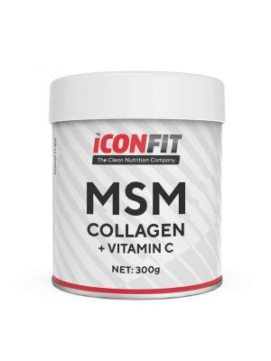 Iconfit MSM Collagen + Vitamin C 300g Nearomatizuotas