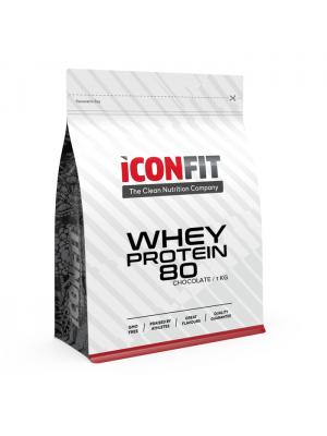 Iconfit Whey Protein 80 1kg Nearomatizuotas