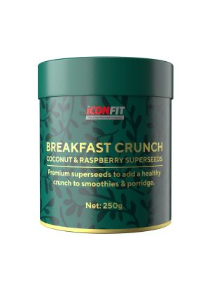 Iconfit Breakfast Crunch - kokosų-aviečių 250g