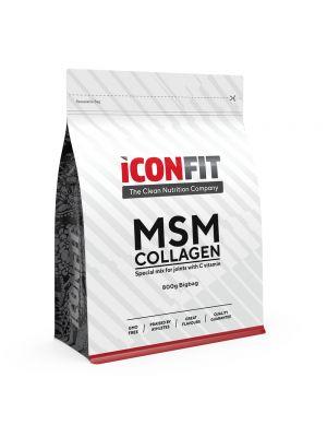 Iconfit MSM Collagen + Vitamin C 800g Oranžinė