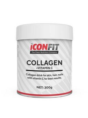 Iconfit Collagen + Vitamin C - oda, nagai, plaukai, 300g Spanguolė