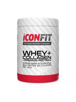 Iconfit WHEY+ Collagen - Premium Protein - - Braškinis, 1kg